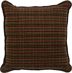 Wooded River Moose I Plaid Indoor Pillow - WD90507
