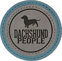 Pavilion Gift Company 67640 2.5 Inch Round Dog Refrigerator Magnet Dachshund People Green