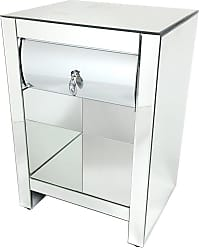 Wayborn Mirrored 1 Drawer Side Table - MC204