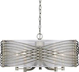 Golden Lighting 5516-5-SHR Zara 5 Light Drum Chandelier with Sheer