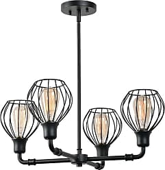 Kenroy Home 93975 Cagney 4 Light 24 Wide Chandelier Black Indoor
