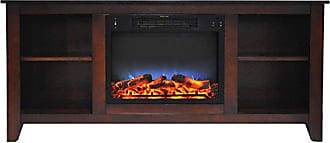 Cambridge Silversmiths CAM6226-1MAHLED Santa Monica 63 In. Electric Fireplace & Entertainment Stand in Mahogany w/ Multi-Color LED Insert