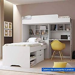 Santos Andirá Módulo Office New com Cama gavetas Conect Branco
