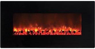 Y Decor FP900 36 Wall Mount Electric Fireplace, Medium, Black