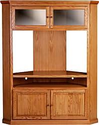 Forest Designs Traditional Large Corner TV Unit with 4 Doors Unfinished Alder - 4045- TG-UA