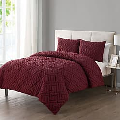VCNY Artemis Greek Key Embossed Comforter Set by VCNY Home Burgundy, Size: Full/Queen - A1S-3CS-FUQU-IN-BU
