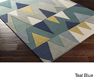 Overstock Hand-Tufted Country Wool Area Rug (5 x 76 - Teal)