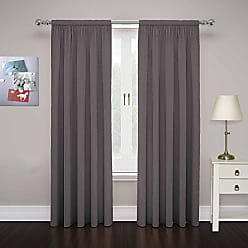 Ellery Homestyles PAIRS TO GO Cadenza 80-Inch by 84-Inch Microfiber Window Panel Pair, Smoke