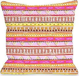 One Bella Casa 73210PL16 Pillow 16 x 16 Pink/Multicolored