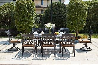 DARLEE Outdoor Darlee Capri 9 Piece Aluminum Rectangular Patio Dining Set - 201660-9PC-30SL