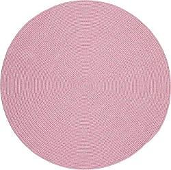 Rhody Rug Fun Braids Solid Pink 6 Round