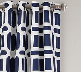 Lush Décor Sequoia Room Window Curtain Panels Set - Navy - Size:52x84
