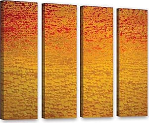 ArtWall Charlie Bairds About 2500 Tigers, 2008, 4 Piece Gallery Wrapped Canvas Set, 36 x 48