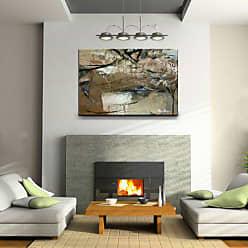 Ready2HangArt Smash XVIII Abstract Modern Contemporary Canvas Wall Art Print, 30 x 40, Grey