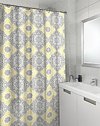 Sweet Home Collection 100% Cotton Decorative 70 x 72 Fashion Bathroom Shower Curtain, Yellow