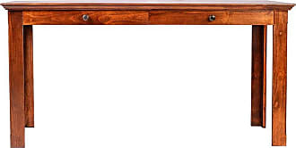 Forest Designs Traditional Writing Table with Drawers and Mission Knobs Unfinished Alder, Size: 66 in. - B1114B- TA-66W-UA