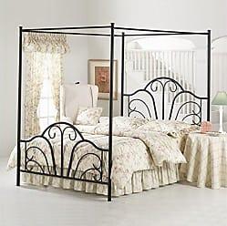Hillsdale Furniture Hillsdale Furniture 348BKPR Hillsdale Dover King Canopy Bed, Textured Black