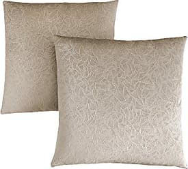 Monarch Specialties Decorative Throw Pillow, Floral Velvet, Taupe, 2pcs