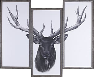 Art Maison Canada Deer Head Tri-Pack Framed Wall Art - HAYN3125