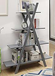 Convenience Concepts Oxford A Frame Bookshelf, Gray