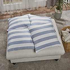 Christopher Knight Home 303152 Mireille Light Blue and White Striped Fabric Throw Pillow (Set of 4)