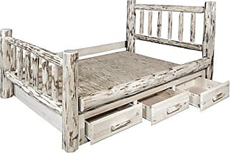 Montana Woodworks MWSBQ Montana Collection Queen Bed with Storage, Ready to Finish