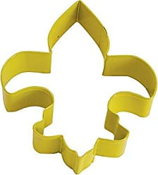 CybrTrayd R&M Fleur De Lis 4.5 Cookie Cutter Yellow with Colored, Durable, Baked-on Polyresin Finish