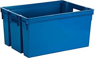 tama/ño 31 x 23,6 x 16,8 cm. 9 L Polipropileno EDA 10269 NA//BPF-BL Caja de almacenaje Clipy Color Azul Profundo
