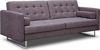 Whiteline Giovanni Tufted Convertible Sofa Bed - SO1195F-GRY