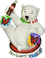 Enesco Coke by Romero Britto Baby Polar Bear Figurine, 7.25-Inch