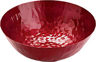 Alessi Joy n11 Round Basket in Steel Colored with Epoxy Resin with Enamel Finish, Pomegranate