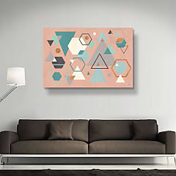 Brushstone Abstract Geo I Pink by Veronique Charron Gallery Wrapped Canvas, Size: 36x54 - 2CHA106C3654W