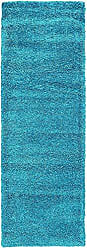 Unique Loom Solo Collection Plush Casual Turquoise Runner Rug (2 x 7)