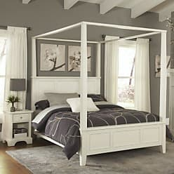 Home Styles Naples White Queen Canopy Bed & Night Stand by Home Styles