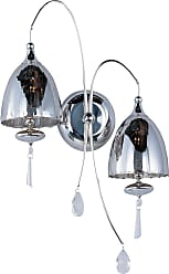 ET2 Contemporary Lighting Chute 2-Light Wall Sconce in Polished Chrome w/Mirror Chrome Shade