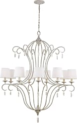 Feiss Caprice 9 Bulb Chalk Washed Chandelier