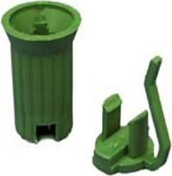 Queens of Christmas WL-P-RSOC-E12G C7 Socket E12 in Green - 50 Bag (Pack of 50)