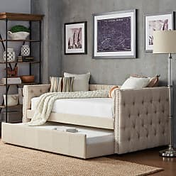 Weston Home Kenswick Tufted Upholstered Twin Daybed with Trundle Dark Gray - 68E318B-DGL[BD]