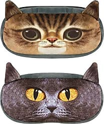 Wrapables Cat Face Zippered Pencil Case (Set of 2), Cobby & Mimi