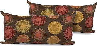 TK Classics Brown Medallion Outdoor Throw Pillows - Set of 2 - PILLOW-BRNSUNB-11X22-2X