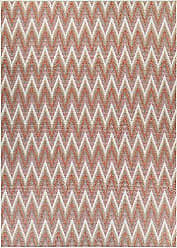 Couristan Monaco Collection Avila Rug, Coral/Ivory/Pewter, 3 by 5-Feet