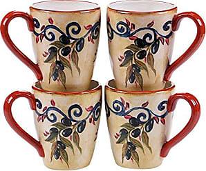 Certified International Umbria Mugs (Set of 4), 22 oz, Multicolor