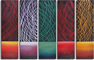 Omax Decor Galactical Day Breaks 5-Piece Oil Painted Wall Art Set - M 3045