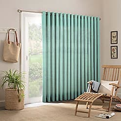Ellery Homestyles PARASOL Key Largo Indoor/Outdoor Patio Door Panel, 84 x 100, Aqua