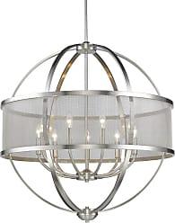 Golden Lighting 3167-9 PW-PW Colson 9 Light 32-3/4 Wide Chandelier