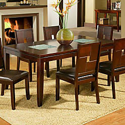 Alpine Furniture Lakeport Dining Table with Extension