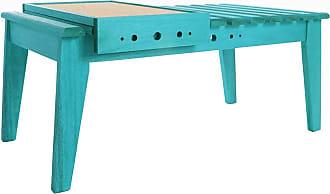 Mão & Formão Mesa de Centro Varanda com Bandeja - AzulAzul