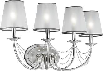 Feiss Aveline 4 Bulb Brushed Steel Vanity Strip