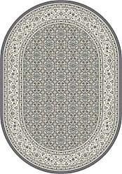 Dynamic Rugs ANOV69570115666 Ancient Garden Collection Area Rug 53 x 77 Oval Grey/Cream