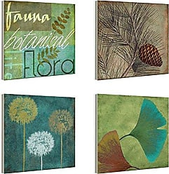 The Stupell Home Décor Collection The Stupell Home Decor Collection Fauna and Flora Botanical Plaque, Set of 4
